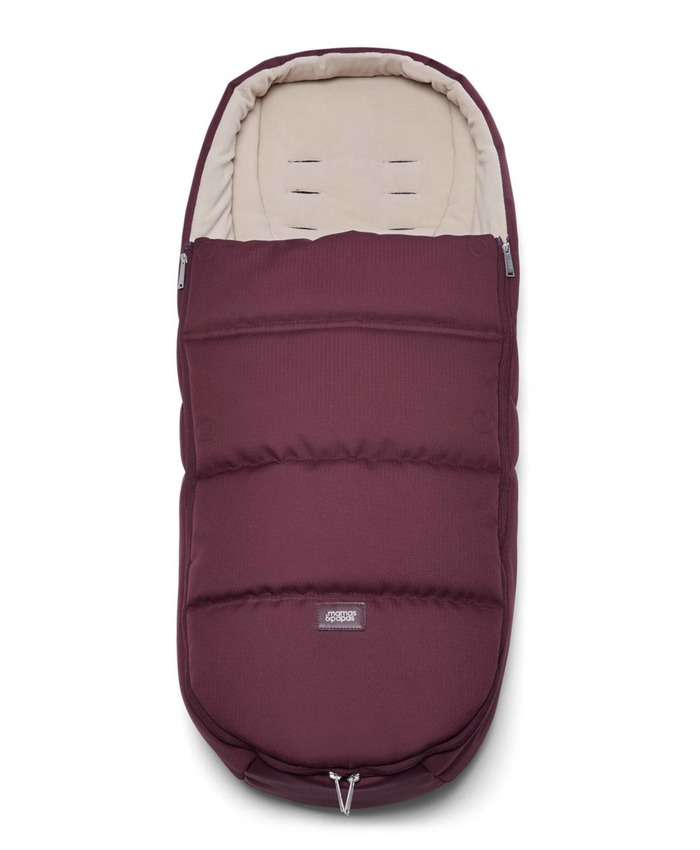 Cold Weather Footmuff for Pushchair - Mulberry