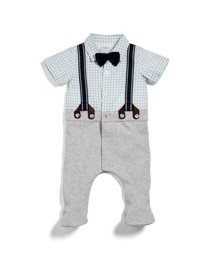 Checked Waistcoat Mock Layer All-in-One