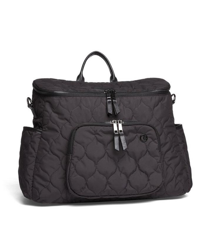 2 Way Satchel Style Changing Bag - Black