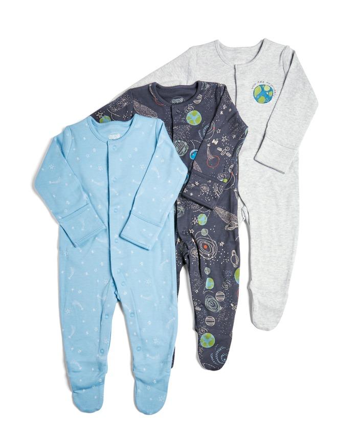 - 3 Pack of Rocket/Space Sleepsuits