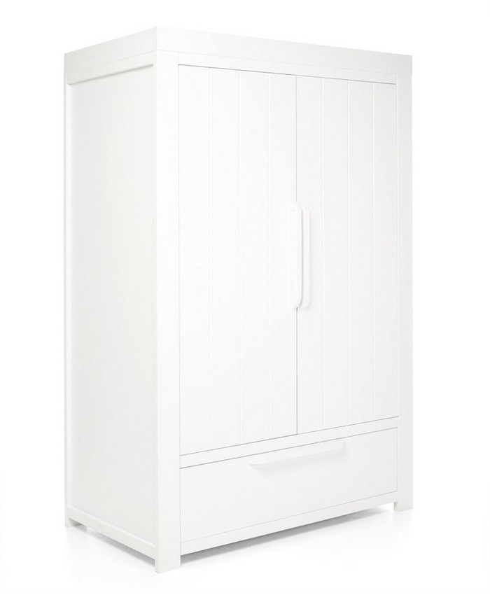 Franklin 2 Door Kids Wardrobe with Drawer - White