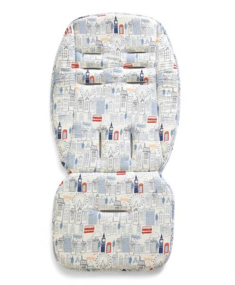 Luxury Memory Foam Pushchair Liner - London Skyline