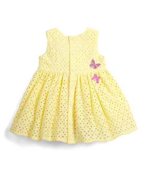 Embroidered Dress - Yellow