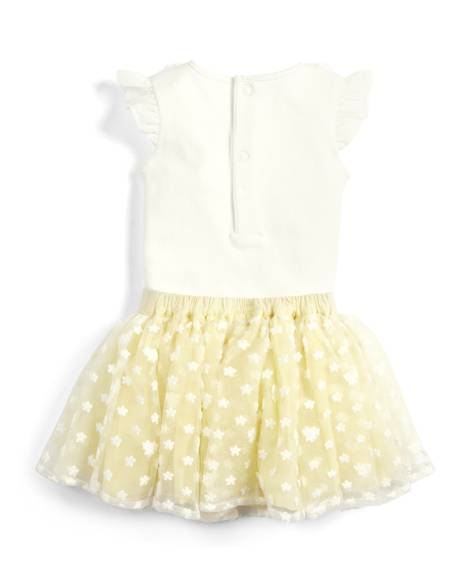 Flower Mesh Body Suit & Tutu - 2 Piece Set