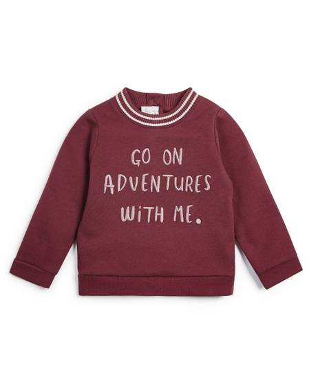 Embroidered Slogan Sweatshirt