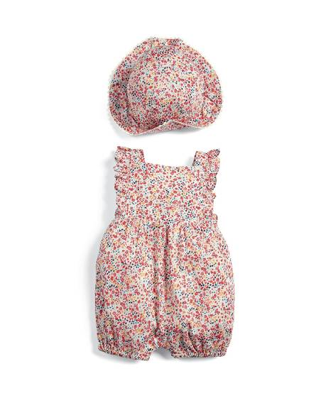 Liberty Romper & Hat Set - 2 Piece
