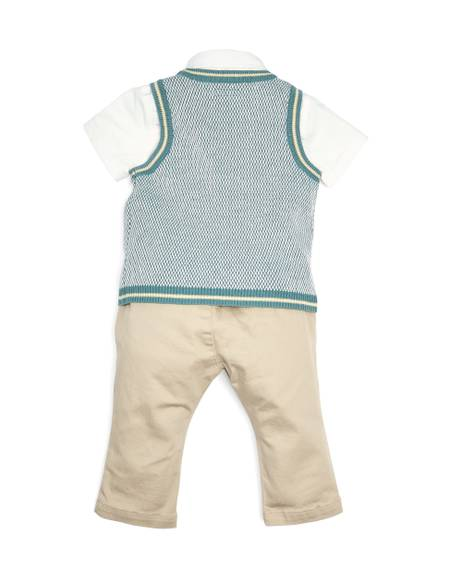 Knitted Tank Top, Shirt and Chinos - 3 Piece Set