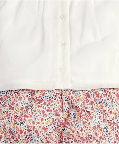 Liberty Blouse, Bloomers and Tights Set - 3 Piece