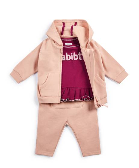 Pink Tracksuit - 3 Piece Set