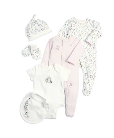 Pink Newborn Essentials - 6 Piece Gift Set