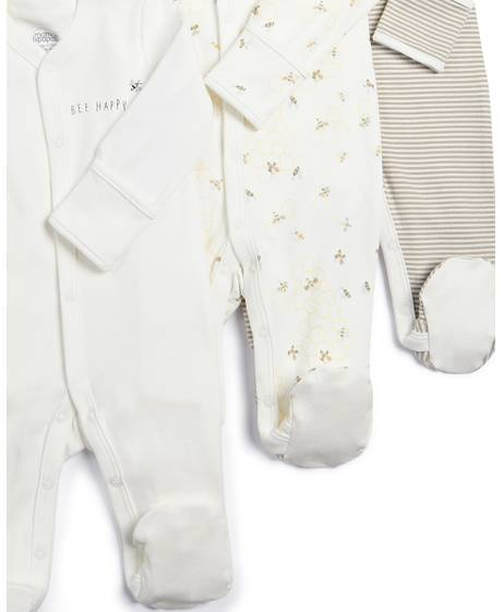 Happy Bee Sleepsuits - 3 Pack