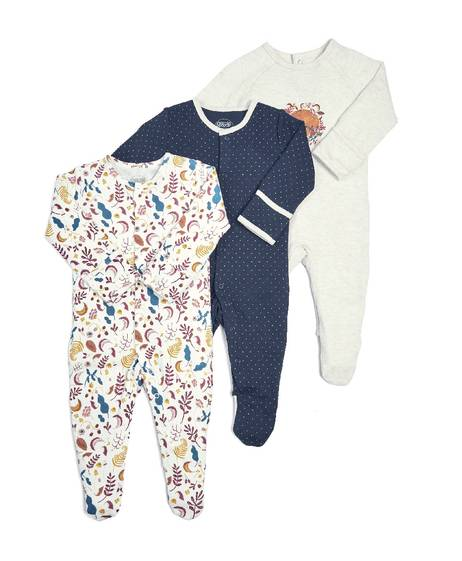 Fox Sleepsuits - 3 Pack