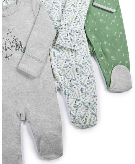 House & Tree Sleepsuits - 3 Pack