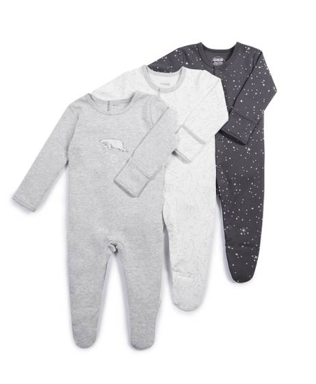 Bear Sleepsuits - 3 Pack