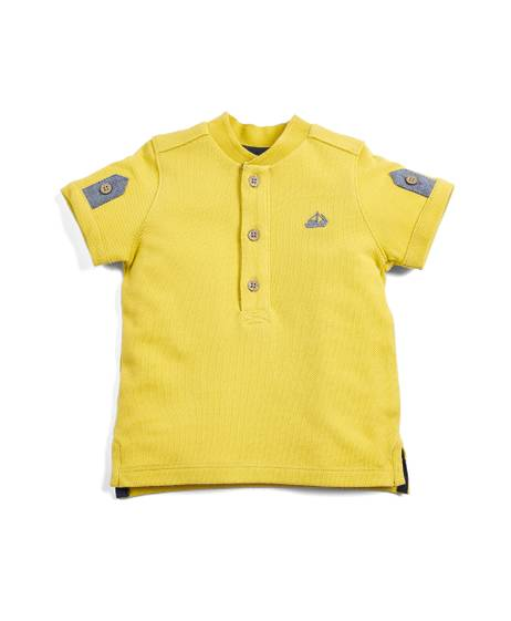 Textured Mustard Polo Shirt