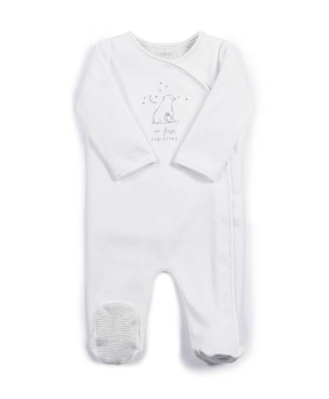 My 1st Christmas Sleepsuit - White