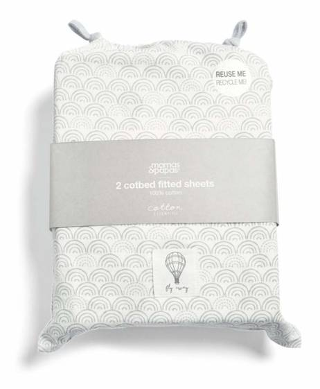 Cotbed Fitted Sheets (Pack of 2) - Balloon