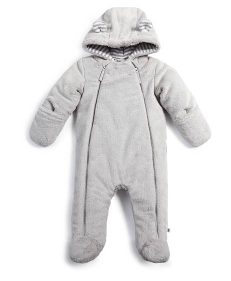 Faux Fur Pramsuit - Grey