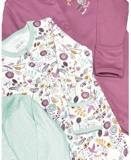 Bird & Floral Sleepsuit