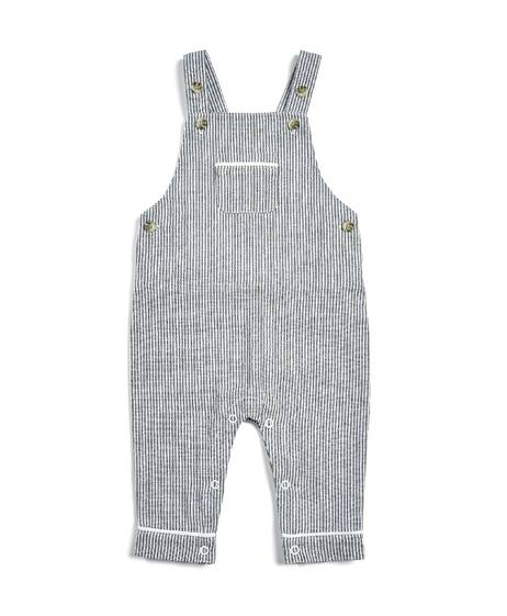 Striped Dungarees & Polo Shirt - 2 Piece Set