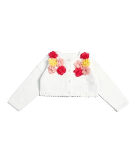Knitted Cardigan With Flowers