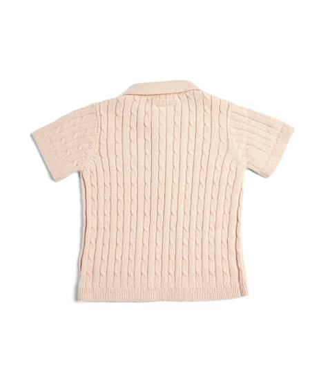 Pink Knitted Polo