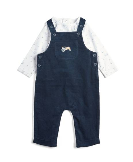 Cord Dungaree & Tee - 2 piece Set