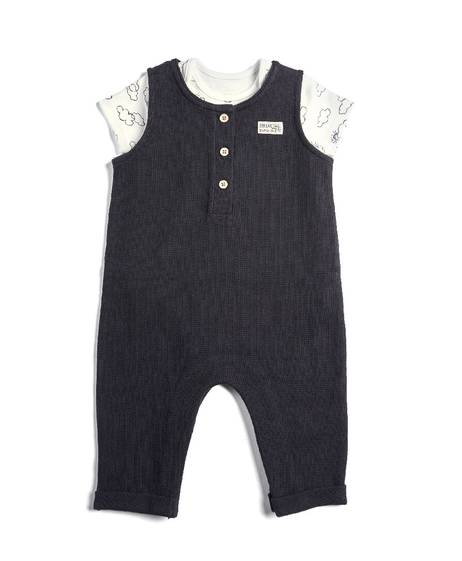 Dungaree with Cloud Bodysuit