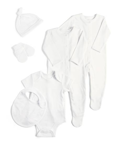 6 Piece Set White