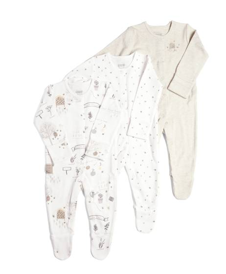 Bee Sleepsuits - 3Pack