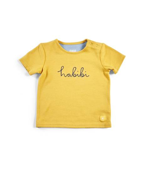 Yellow Slogan T-Shirt