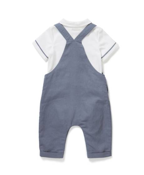 Dungaree & Polo Shirt Set