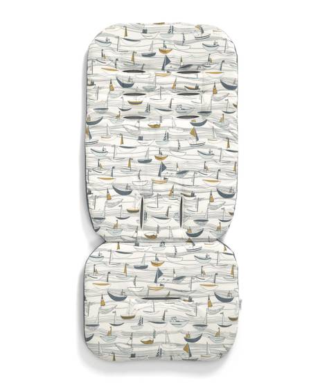 Luxury Memory Foam Pushchair Liner - Boat Race