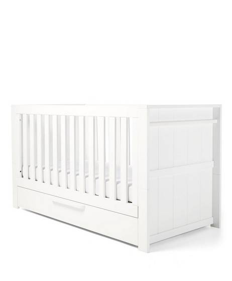 Franklin Convertible Cot & Toddler Bed 3 in 1 - White