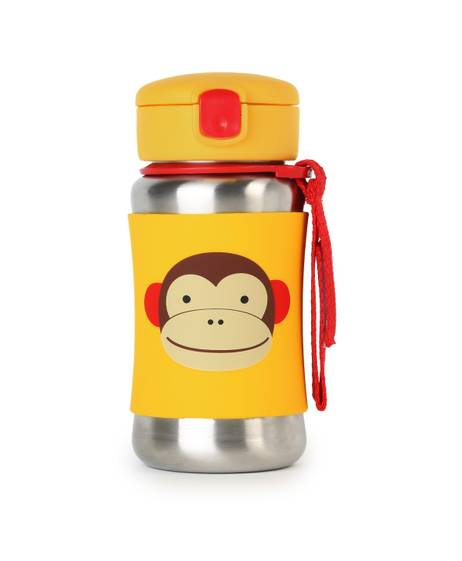 Zoo Stainless Steel Straw Bottle