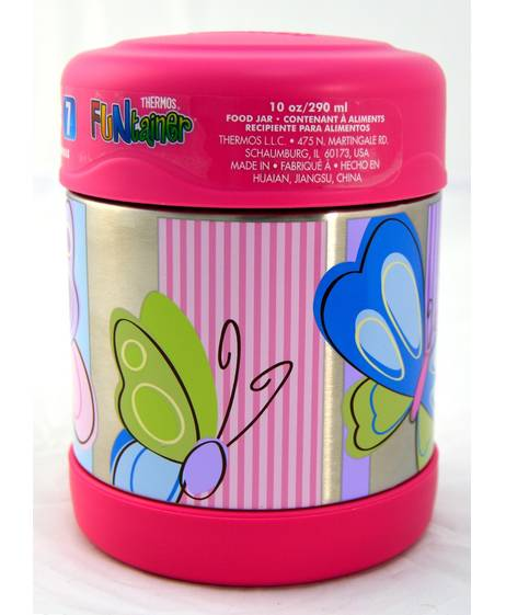 Thermosâ®- Funtainerâ® Stainless Steel Food Jar 290Ml- Butterfly