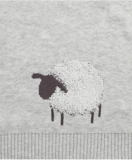 Sheep & Me Knitted Blanket