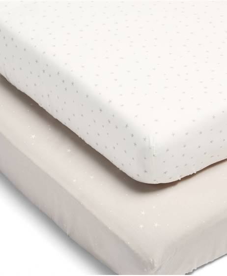 Millie & Boris Fitted Sheets (2 Pack) - Neutral
