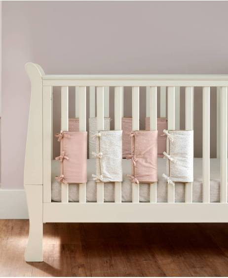 Millie & Boris Cotbed & Cot Bar Bumpers - Pink