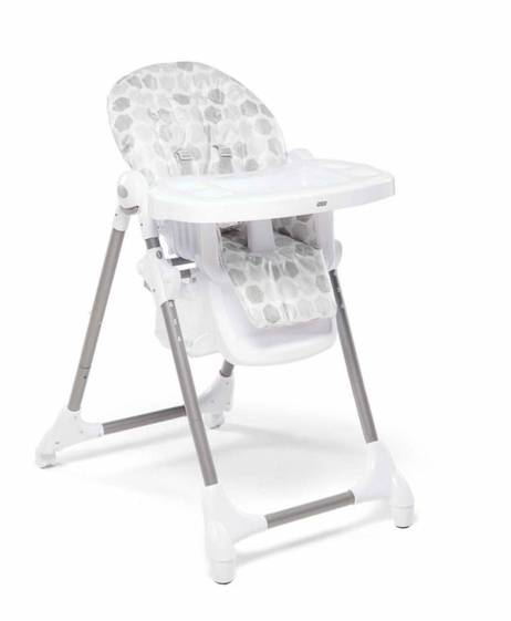 Snax Adjustable Highchair with Removable Tray Insert - Grey Hexagons