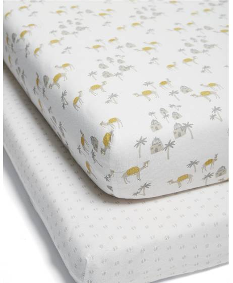 Large Fitted Sheets - Camel