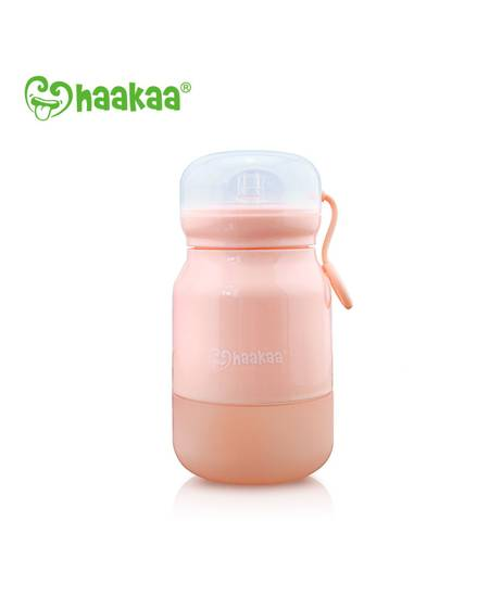 350ml Silicone Sippy Bottle - Pink