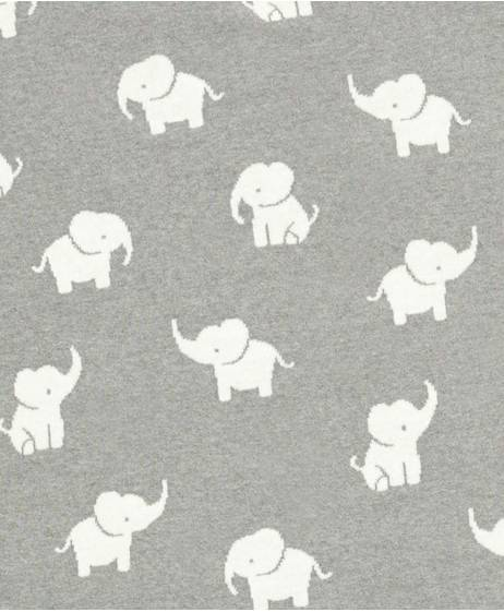Welcome To The World Knitted Elephant Blanket - Grey