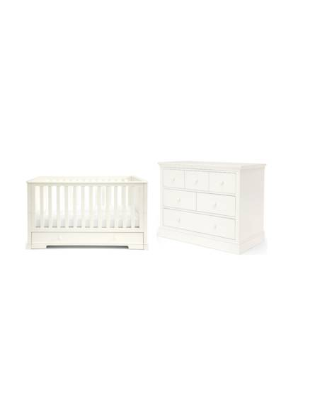 Oxford White - Cotbed & Dresser/Changer Set