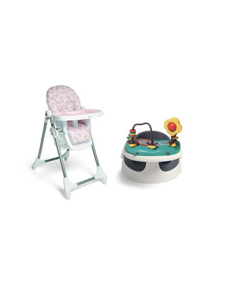 Baby Snug - Navy & Snax Highchair - Alphabet Floral