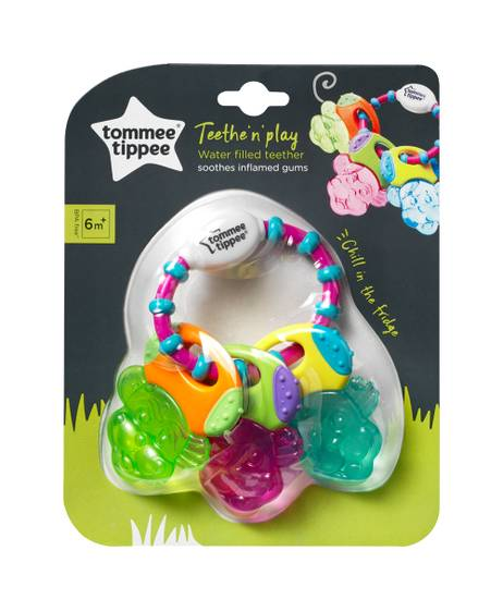 Tommee Tippee Teethe n Play Water Teether, (6 months +) - Multi Colour