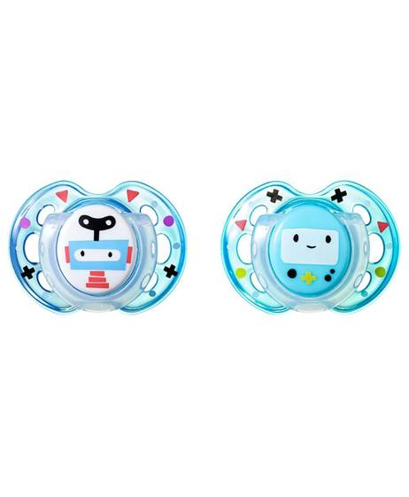 Tommee Tippee 2X 0-6M Fun Style Soother-Blue
