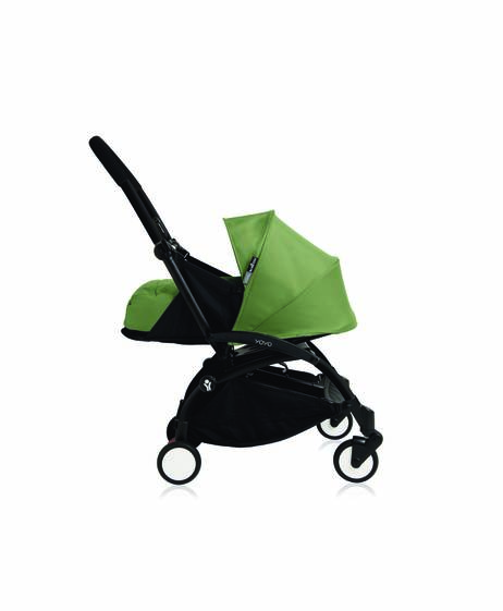 Babyzen YOYO Newborn Black Frame 2 Piece Set- Peppermint