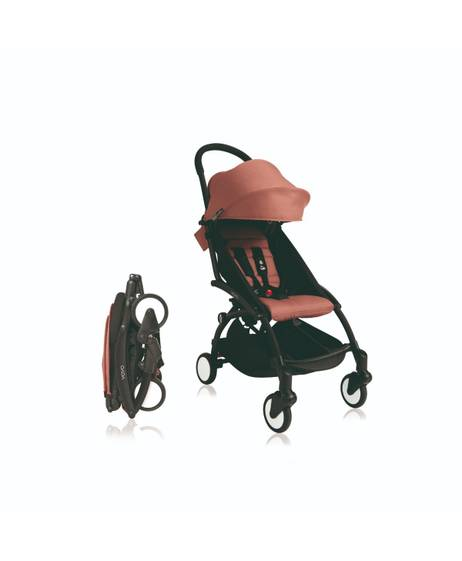 Babyzen YOYO Black Frame 6 Months+ 2 Piece Set - Ginger
