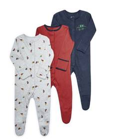 Cars Jersey Sleepsuits - 3 Pack